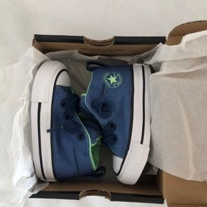 New Blue Converse Baby Toddler Shoes Size Infant 2